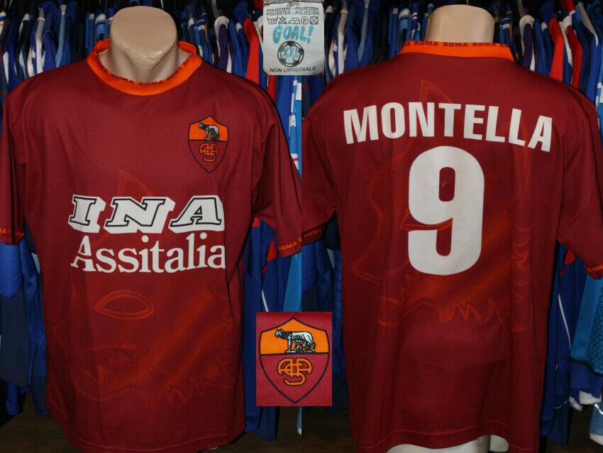 Replica As Roma Serie A Home #9 Montella Shirt Jersey Maglietta ...